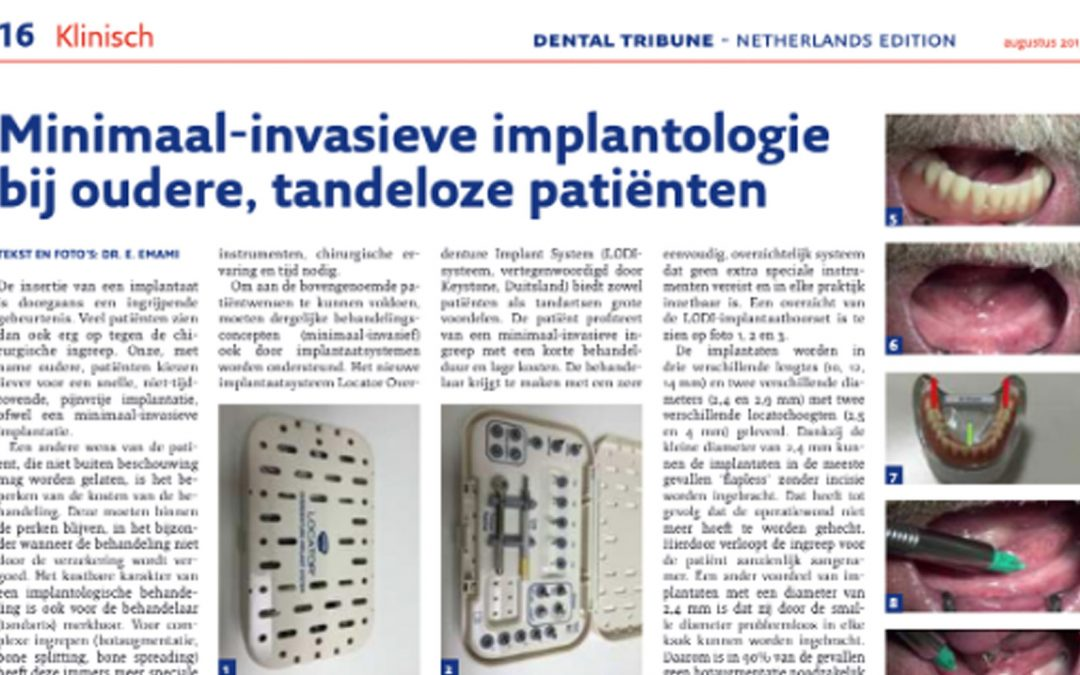 Minimaal invasieve implantologie